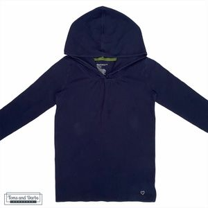 Gap Kids Hoodie with Buttons in Blue